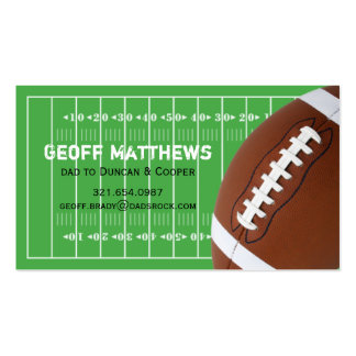 Football Field Daddy/Mommy Card Double-Sided Standard Business Cards (Pack Of 100)