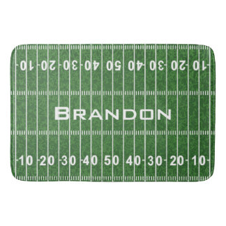 Football Field Design Bath Mat