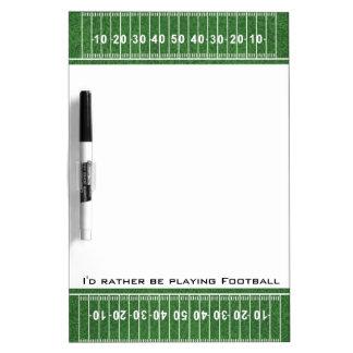 Football Field Design Dry Erase Board