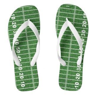 Football Field Design Flip Flops