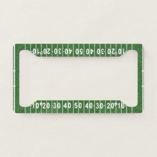 Football Field Design License Plate Frame