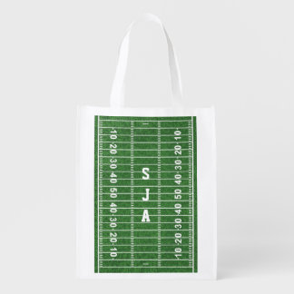 Football Field Design Reusable Tote