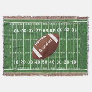 Football Field Design Throw Blanket