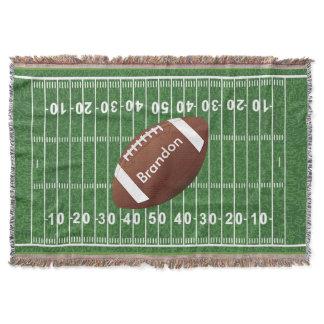 Football Field Design Throw Blanket