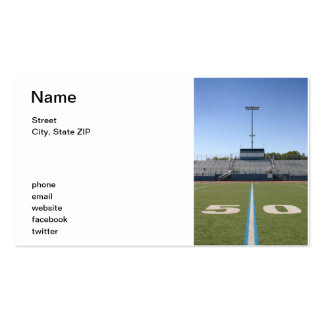 Football Field Fifty Business Card