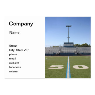 Football Field Fifty Large Business Card