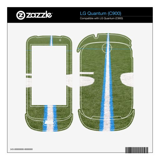 Football Field Fifty Decals For The LG Quantum