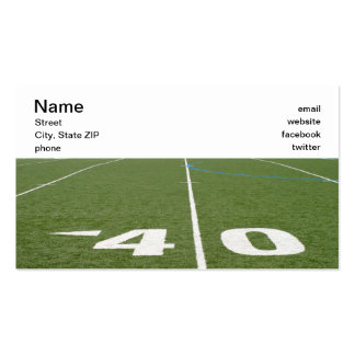 Football Field Forty Business Card Template