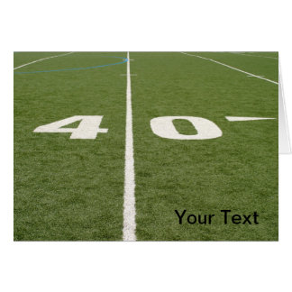 Football Field Forty Card