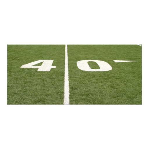 Football Field Forty Rack Card