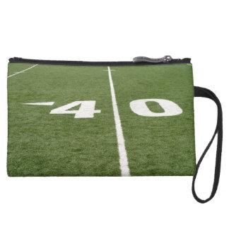 Football Field Forty Suede Wristlet Wallet