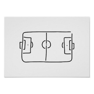football field from above lines poster