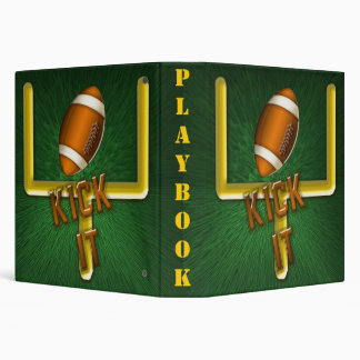 Football Field Goal Kick It Playbook Binder