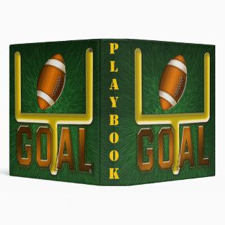 Football Field Goal Playbook Binder