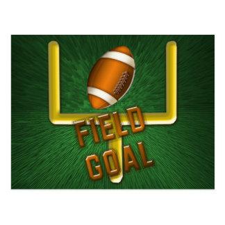 Football Field Goal Postcard