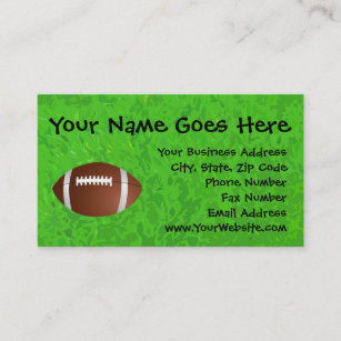 Junior football business cards zazzle football field junior varsity business card colourmoves
