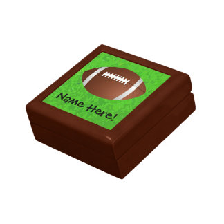 Football Field Junior Varsity Jewelry Box