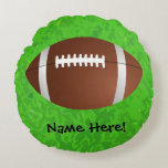 Football Field Junior Varsity Round Pillow