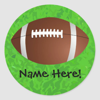 Football Field Junior Varsity Classic Round Sticker