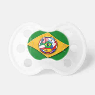 football field looks like Brazil flag with ball Pacifier