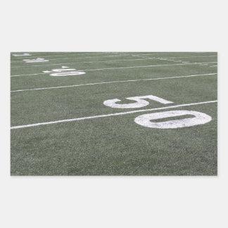 Football Field Markings Rectangular Sticker