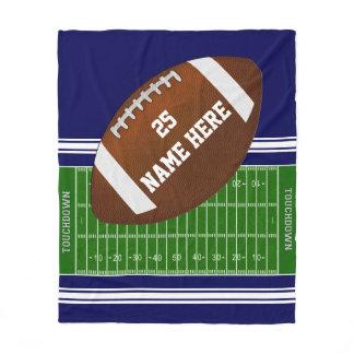 Football Field PERSONALIZE Football Fleece Blanket