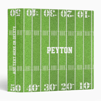 Football Field Personalized 3 Ring Binder
