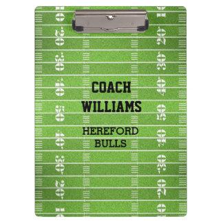 Football Field Personalized Clipboard
