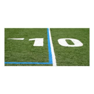 Football Field Ten Rack Card
