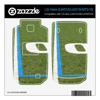 Football Field Ten Decals For The LG Helix