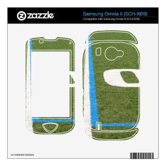 Football Field Ten Skin For Samsung Omnia II