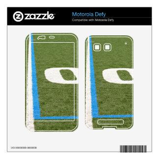 Football Field Ten Decal For Motorola Defy