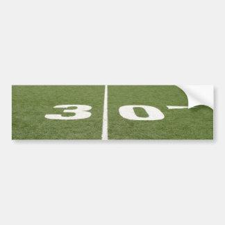 Football Field Thirty Bumper Sticker