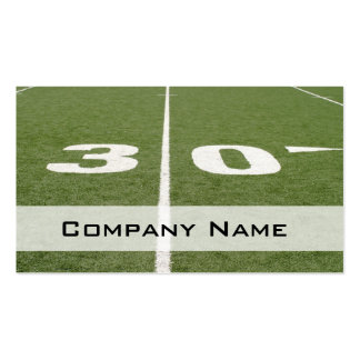 Football Field Thirty Double-Sided Standard Business Cards (Pack Of 100)