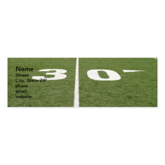 Football Field Thirty Double-Sided Mini Business Cards (Pack Of 20)
