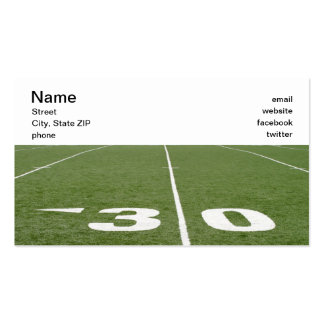 Football Field Thirty Business Cards