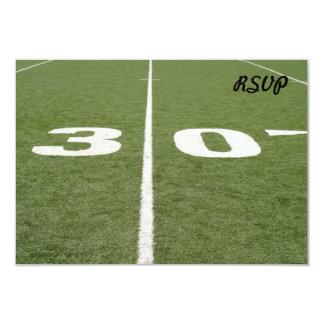Football Field Thirty Invitations