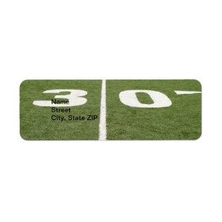 Football Field Thirty Label