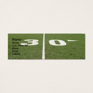 Football Field Thirty Mini Business Card