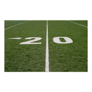 Football Field Twenty Canvas Poster