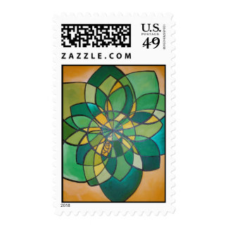 Football Flower Stamps