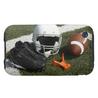 Football, football helmet, tee and shoes on tough iPhone 3 covers