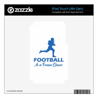 football football iPod touch 4G skin