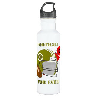 Football for ever 24oz water bottle