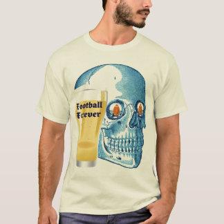 FOOTBALL FOREVER BLUE SKULL GRAPHIC PRINT T-Shirt