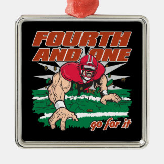 Football Fourth and One Ornaments