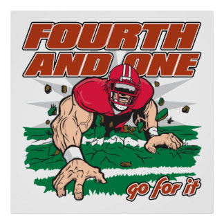 Football Fourth and One Poster