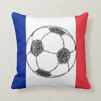 Football, France Throw Pillow