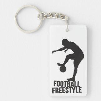 Football Freestyle | Soccer Single-Sided Rectangular Acrylic Keychain