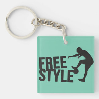 Football Freestyle | Soccer Single-Sided Square Acrylic Keychain